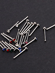 Body Piercing Jewellery 24 Stainless Steel Nose Piercing Round Nose Stud