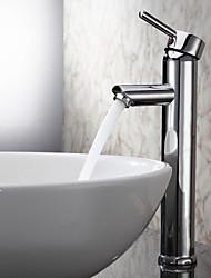 Sprinkle® par LightInTheBox - Chrome Poignée simple finition laiton massif lavabo robinet