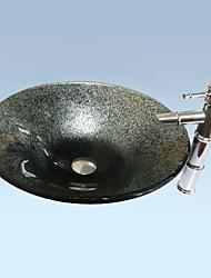 Gris Set d'évier de salle de bains contemporaine (Lavabo et robinet)