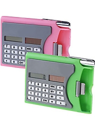 3-in-1 Multi-purpose Name Card Holder Case + Solar Power 8-digit Calculator + Metallic Ballpoint - Color Assorted