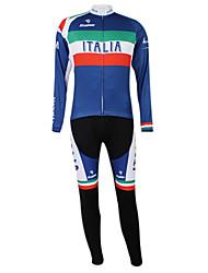 Kooplus2013 Championship Itália Jersey poliéster e Lycra e elástico Ciclismo Suits Tecido (camisa + calça)