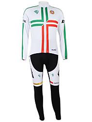 Kooplus2013 Championship Portugal Jersey poliéster e Lycra e elástico Ciclismo Suits Tecido (camisa + calça)
