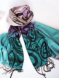 Qing Yu Changing Color Round Dots Classic Folk Tassel Fashion Scarf