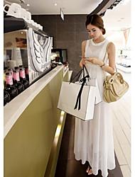 Frauen im Kragen Chiffon A-Line Kleid