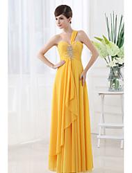 Qiandu Gorgeous One Shoulder Beads Asymmetrical Dress(Partten and Beads Randomly)