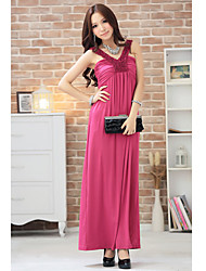 Women's Elegant Halter High Waist Maxi Dress