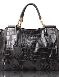 CANIFIER Crocodile Crossbody/Handbag(Black)