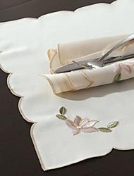 "16 ""X16"" Modern Style Branco Loyus Floral Guardanapos"