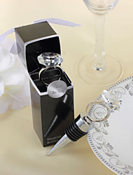 """Ring Chrome Bottle Favor-1Piece/Set Bottle Stoppers Classic Theme Non-personalised 4"""" x 1"""" x 1"""" (10*2.5*2.5cm)"""