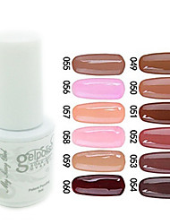 yemannvyou®sequins de color de uñas de gel UV no.49-60 polaco (5 ml, colores surtidos)