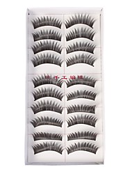 Black Ten-Pair Feather False Eyelashes