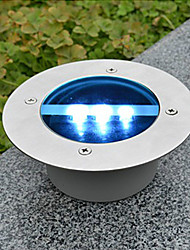 Solar Power Round Recessed Deck Dock Pathway Garden Led Light(Cis-57154)