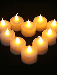 1PCS LED Yellow Candle Shaped Light for Halloween Costume Party