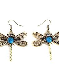 Bom turquesa Vivid brincos libélula