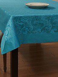 Blue Polyester Rectangular Table Cloths