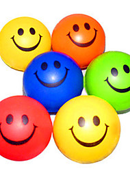 Happy Face образцу снятие стресса резиновые шары (случайный цвет)