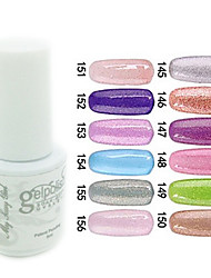 yemannvyou®sequins cor uv gel nail no.145-156 polonês (5ml, cores sortidas)