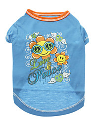 Cute Love & Peace Flowers Pattern T-shirt for Pets Dogs (Assorted Sizes, Colors)