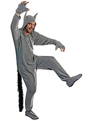 Adult Fierce Grey Wolf Kigurumi Costume