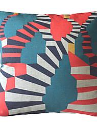 "18"" Square Magic Stairs Cotton/Linen Decorative Pillow Cover"