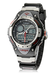 Men's Multi-Function Analog-Digital Dial Silicone Band Wrist Watch (Assorted Colors)