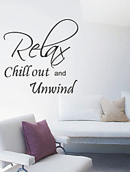 Relax Chill out and Unwind Wall Stickers
