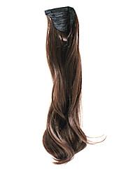 Dark Brown sintético Rabo Ondulado Longo