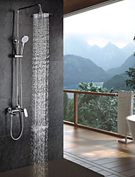 "Sprinkle® by Lightinthebox -Contemporary Chrome Finish Shower Faucet with Handheld and 8"" Showerhead"