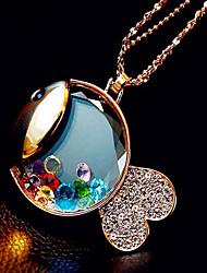 Z&X®  Little fish, little bear, perfume bottles sweater chain