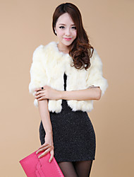 Half Sleeve Collarless Rabbit Fur Party/Casual Jacket(More Colors)