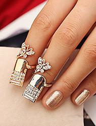 Diamante papillon féminin de forme annulaire