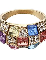 Diamant Crystal Symphony Modèles Féminins à l'anneau classique de luxe