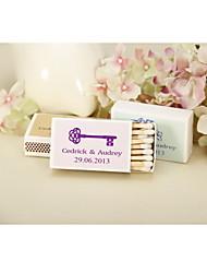 Wedding Décor Personalized Matchbooks - Key-Set of 12 (More Colors)