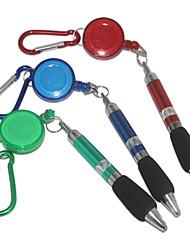 Montanhismo Buckle tração caneta esferográfica de tinta azul (cor aleatória)