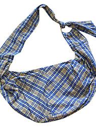коричневый сетки шаблон одного плеча наклона чемоданчик носитель для домашних животных собак