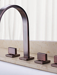 Vintage Design Wall-mounted Waterfall Oil-rubbed Bronze Bathroom Tub Faucet with Hand Shower