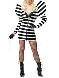 Hot Singer Black and White Stripes Women's Costume