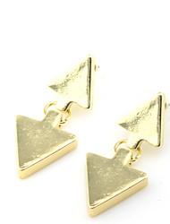 Boucles d'oreilles percées de mode alliage d'or Wonmen