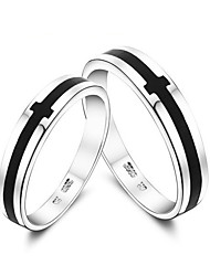 ilver Plated Black Cro Lover' Ring(Aorted ize,A Pair Per Package)