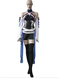 Kingdom Hearts Kairi Black and Blue Satin Cosplay Costume