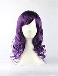 Purple 49cm Sweet Lolita Curly Wig Halloween Props Cosplay Accessories