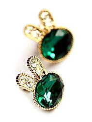 lapin marine gemme bleue boucles d'oreilles diamant E219 de femmes