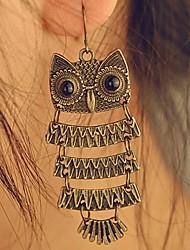 Earring Animal Shape / Owl Drop Earrings Jewelry Women Daily Alloy