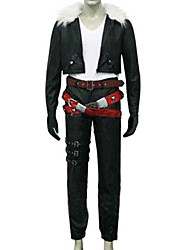 Inspired by Final Fantasy Squall Leonhart Video Game Cosplay Costumes Cosplay Suits Solid Black Long Sleeve Coat / T-shirt / Pants / Belt