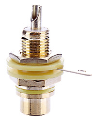 RCA Welding Adapter Female Gold-Plated Yellow for Video Home Theater