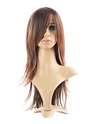 Capless High Quality Synthetic Straight Brown Fashional Hair Wigs