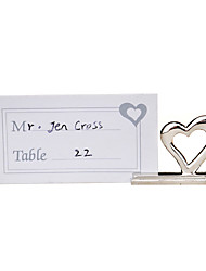 Place Cards and Holders Zinc Alloy Heart Love Place Card Holders-Set of 2