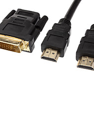 HDMI V1.3 Female to DVI 24+1 Male Gold Plated Cable(3M)