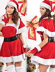 Miss Santa Red Velvet Dress Women's Christmas Costume