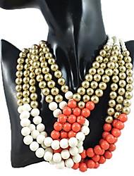 Ashine Beads Braid Imitation Collar Necklace